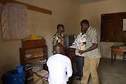 Teachers in the staff room at Tonga Junior High School, Ghana.