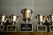KOTZEBUE - OCTOBER 28 2009. John Bakers trophies in his home in Kotzebue, Alaska.