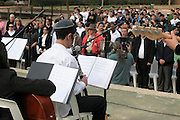 Israel, Southern District, Netivot (founded 1956) Youth music recital at the inaugration and planting of a forest in the city