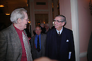 Peter O'Toole and Lord Healey. The Oldie Of The Year Awards,  Simpsons in the Strand, London. 22 March 2005. ONE TIME USE ONLY - DO NOT ARCHIVE  © Copyright Photograph by Dafydd Jones 66 Stockwell Park Rd. London SW9 0DA Tel 020 7733 0108 www.dafjones.com