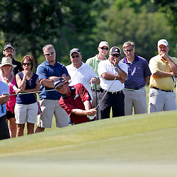 Apr 27, 2012; Avondale, LA, USA; Jason Dufner on the 9th hole during the second round of the Zurich Classic of New Orleans at TPC Louisiana. Mandatory Credit: Derick E. Hingle-US PRESSWIRE
