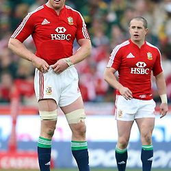 Paul O'Connell (c) of the British and Irish Lions during the British and Irish Lions tour 2009