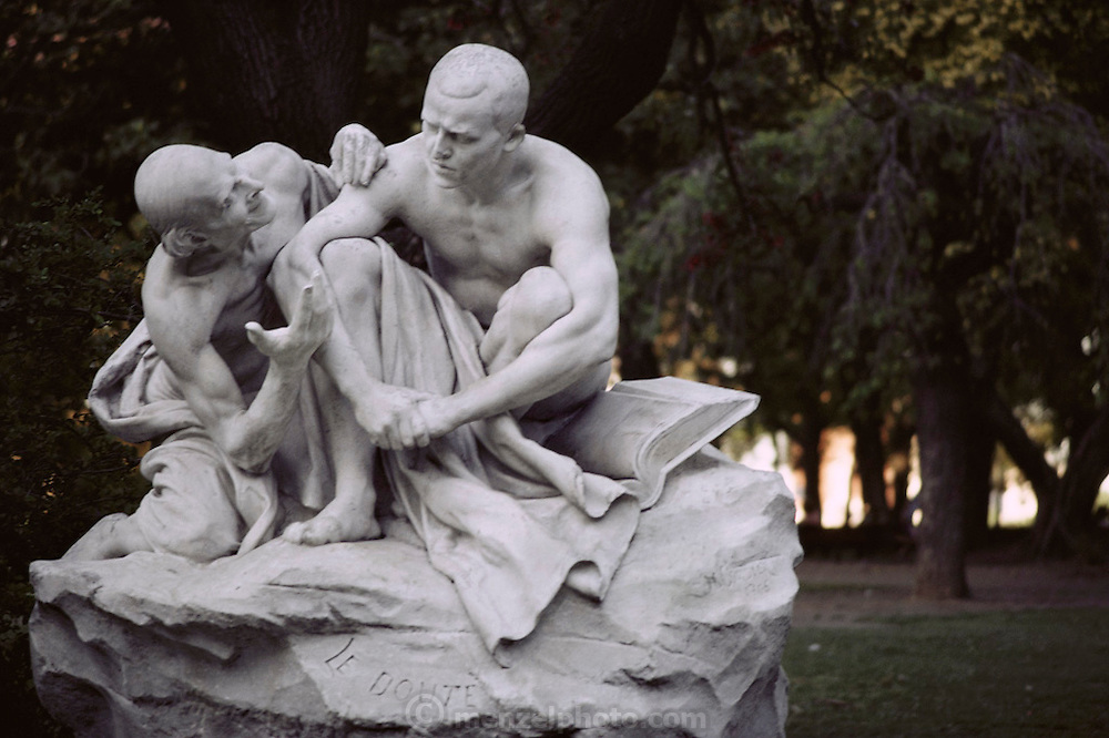 "A statue called ""Doubt"" (Le Doute) in Buenos Aires, Argentina;"