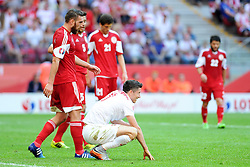 13.06.2015, Nationalstadion, Warschau, POL, UEFA Euro 2016 Qualifikation, Polen vs Greorgien, Gruppe D, im Bild ROBERT LEWANDOWSKI, ZLOSC SMUTEK EMOCJE // during the UEFA EURO 2016 qualifier group D match between Poland and Greorgia at the Nationalstadion in Warschau, Poland on 2015/06/13. EXPA Pictures © 2015, PhotoCredit: EXPA/ Newspix/ MICHAL STANCZYK / CYFRASPORT<br /> <br /> *****ATTENTION - for AUT, SLO, CRO, SRB, BIH, MAZ, TUR, SUI, SWE only*****