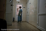 Ukraine, Donetsk: A nurse inside a city morgue in Donetsk on 27 May 2014. ALESSIO ROMENZI