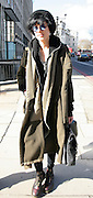 01.MARCH.2010 - LONDON<br /> <br /> AGYNESS DEYN WALKING THROUGH THE STREETS OF LONDON WITH SOME FRIENDS WEARING A BIG GREEN ARMY COAT.<br /> <br /> BYLINE: EDBIMAGEARCHIVE.COM<br /> <br /> *THIS IMAGE IS STRICTLY FOR UK NEWSPAPERS OR MAGAZINES ONLY. FOR WORLDWIDE SALES OR WEB USE PLEASE CONTACT EDBIMAGEARCHIVE -0044 208 954 5968*