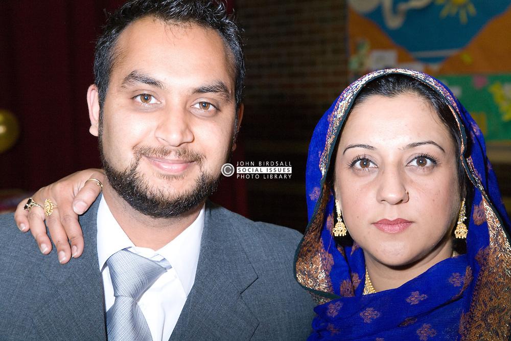 Guests at Asian wedding,