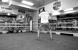 Sergei Kovalev, Light Heavyweight contender training at Big Bear in California.