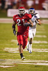 Sep. 18, 2009; Fresno, CA, USA;  Fresno State Bulldogs running back Ryan Mathews (21) rushes for a 60 yard touchdown, his second of the game, during the second quarter at Bulldog Stadium.