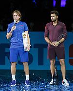 Sieger LUCAS POUILLE, Siegerehrung<br /> <br /> Tennis - ERSTE BANK OPEN 2017 - ATP 500 -  Stadthalle - Wien -  - Oesterreich  - 29 October 2017. <br /> &copy; Juergen Hasenkopf
