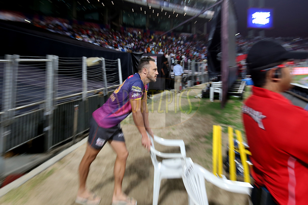Faf du Plessis of Rising Pune Supergiant during match 34 of the Vivo 2017 Indian Premier League between the Rising Pune Supergiants and the Royal Challengers Bangalore   held at the MCA Pune International Cricket Stadium in Pune, India on the 29th April 2017<br /> <br /> Photo by Faheem Hussain - Sportzpics - IPL