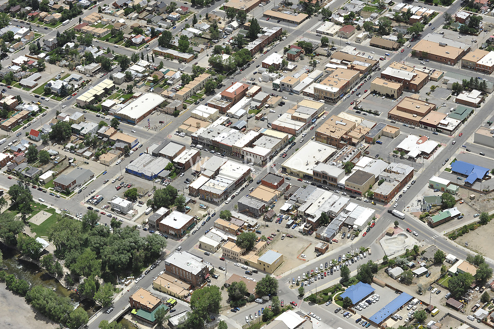aerial of Salida, CO