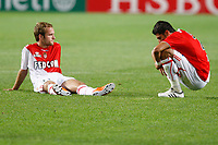FOOTBALL - FRENCH CHAMPIONSHIP 2010/2011 - L1 - AS MONACO v OLYMPIQUE LYONNAIS - 29/05/2011 - PHOTO PHILIPPE LAURENSON / DPPI - DESPAIR MONACO PLAYERS AFTER MATCH