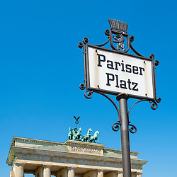 Brandenburg Gate at Pariser Platz in Berlin Germany