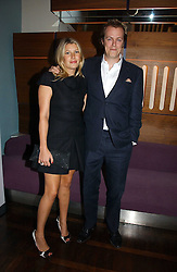 TOM & SARA PARKER BOWLES at a party to celebrate the publication of 'The year of Eating Dangerously' by Tom Parker Bowles held at Kensington Place, 201 Kensington Church Street, London on 12th october 2006.<br />
