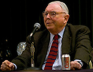 Omaha, Neb 5/7/06 Charlie Munger answers questions at the Berkshire Hathaway annual meeting press conference at the Marriott Hotel Sunday afternoon.(Chris Machian/Prairie Pixel Group).