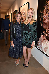 Katy Wickremesinghe and Noelle Reno at the launch of the new JD Malat Gallery, 30 Davies Street, London, England. 05 June 2018.