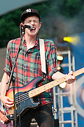 Tokyo Police Club performs at Bunbury Music Festival at Sawyer Point in Cincinnati, Ohio on July 12, 2013.