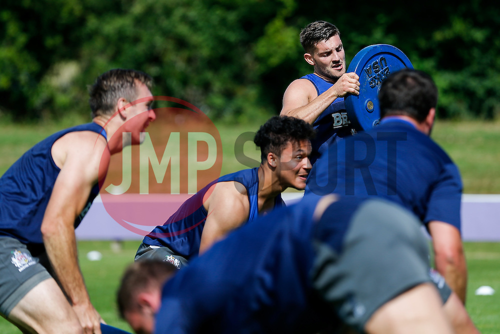 Will Cliff in action as Bristol Rugby return to training ahead of their 2015/16 Greene King IPA Championship campaign - Photo mandatory by-line: Rogan Thomson/JMP - 07966 386802 - 03/07/2015 - SPORT - RUGBY UNION - Bristol, England - Clifton Rugby Club.