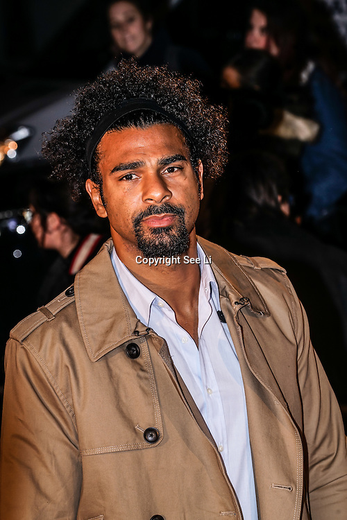 London,England,UK. 21th Fen 2017. David Haye attends London Fabulous Fund Fair hosted by Natalia Vodianova and Karlie Kloss in support of The Naked Heart Foundation on February 21, 2017 at The Roundhouse in London, England.,UK. by See Li