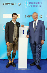 13.07.2019, BMW Welt, Muenchen, GER, Bayerischer Sportpreis Verleihung, im Bild Felix Neureuther und Joachim Herrmann // during the Bavarian Sports Award at the BMW Welt in Muenchen, Germany on 2019/07/13. EXPA Pictures © 2019, PhotoCredit: EXPA/ SM<br /> <br /> *****ATTENTION - OUT of GER*****