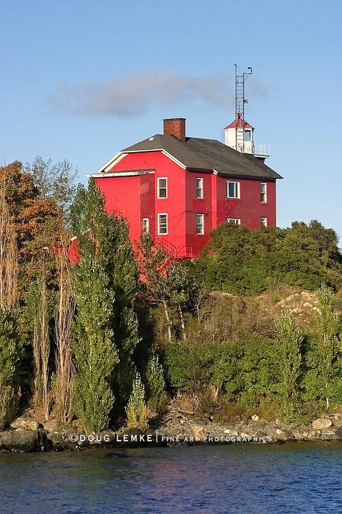 The Historic Marquette Harbor Lighthouse On Lake Superior, Michigan's Upper Peninsula