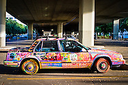 Graffiti Car under a bridge in Portland, Oregon