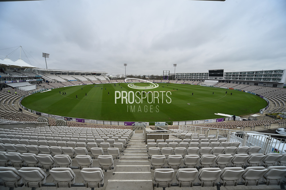 The Ageas Bown before the start of play on the first day of the new County Championship season during the Specsavers County Champ Div 1 match between Hampshire County Cricket Club and Worcestershire County Cricket Club at the Ageas Bowl, Southampton, United Kingdom on 13 April 2018. Picture by Graham Hunt.