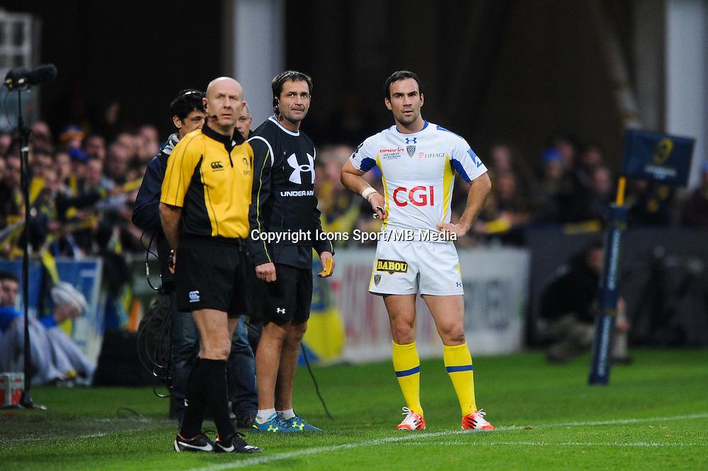 Franck AZEMA / Morgan PARRA - 14.12.2014 - Clermont / Munster - European Champions Cup <br /> Photo : Jean Paul Thomas / Icon Sport