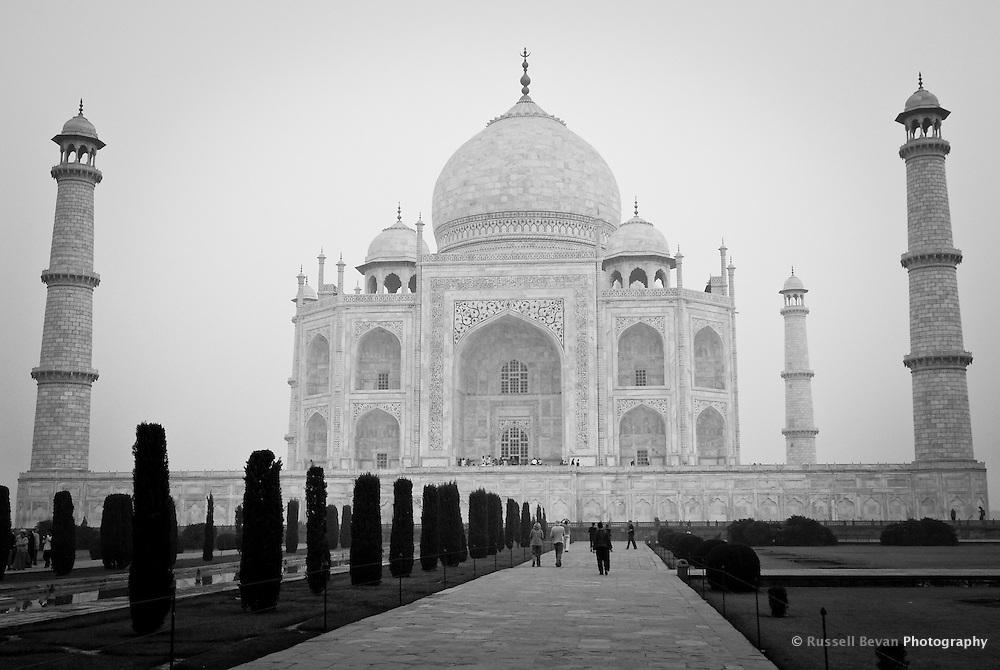 Morning at the Taj Mahal in Agra, Uttar Pradesh, India