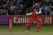 Alex Davies batting during the Vitality T20 Blast North Group match between Lancashire Lightning and Leicestershire Foxes at the Emirates, Old Trafford, Manchester, United Kingdom on 30 August 2019.