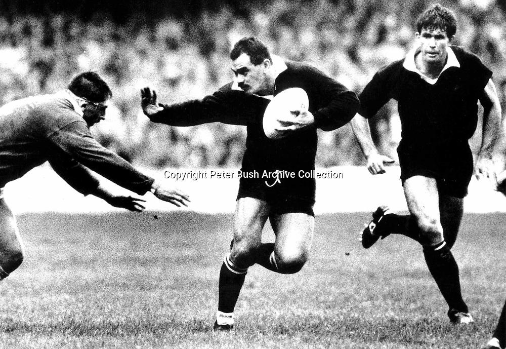 Jo Stanley, New Zealand All Blacks v france 1987. Photo: PHOTOSPORT/Peter Bush