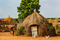 Nyangatom tribe village, Omo Valley, Ethiopia.