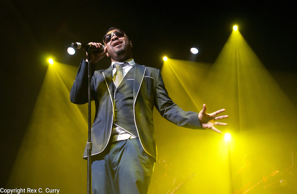 Musiq Soulchild, (who's real name is Taalib Johnson) performs at the Verizon Theatre in Grand Prairie on Feb. 24, 2012......(Rex C. Curry/Special Contributor)