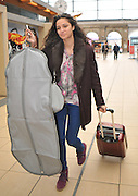 23.JANUARY.2013. LONDON<br /> <br /> HOLLYOAKS ACTRESS ANNA SHAFFER LEAVING LIME STREET TRAIN STATION TO HEAD TO LONDON FOR THE NTA AWARDS. <br /> <br /> BYLINE: EDBIMAGEARCHIVE.CO.UK<br /> <br /> *THIS IMAGE IS STRICTLY FOR UK NEWSPAPERS AND MAGAZINES ONLY*<br /> *FOR WORLD WIDE SALES AND WEB USE PLEASE CONTACT EDBIMAGEARCHIVE - 0208 954 5968*