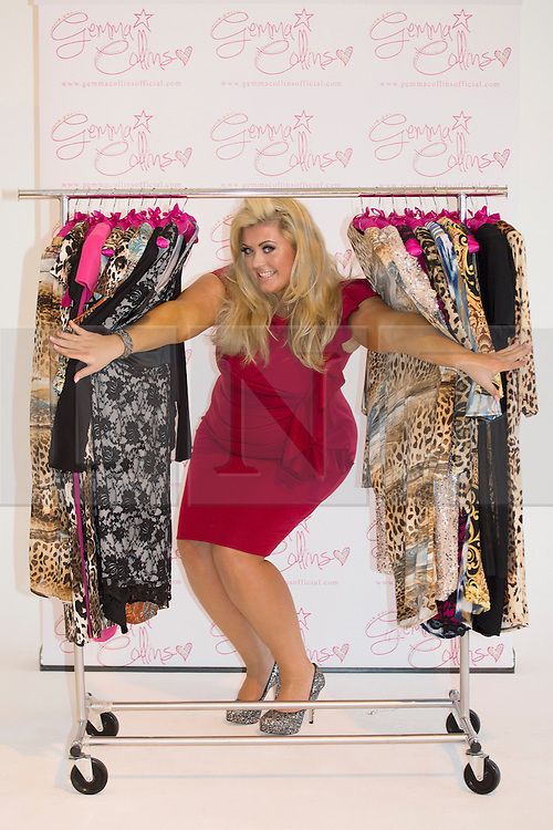 © licensed to London News Pictures. London, UK 05/11/2012. Gemma Collins launching her the plus-size collection with at The Worx studious in London. Photo credit: Tolga Akmen/LNP