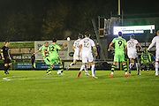 Forest Green Rovers Liam Noble(15) shoots at goal scores a goal 2-1 during the Vanarama National League match between Forest Green Rovers and Tranmere Rovers at the New Lawn, Forest Green, United Kingdom on 22 November 2016. Photo by Shane Healey.