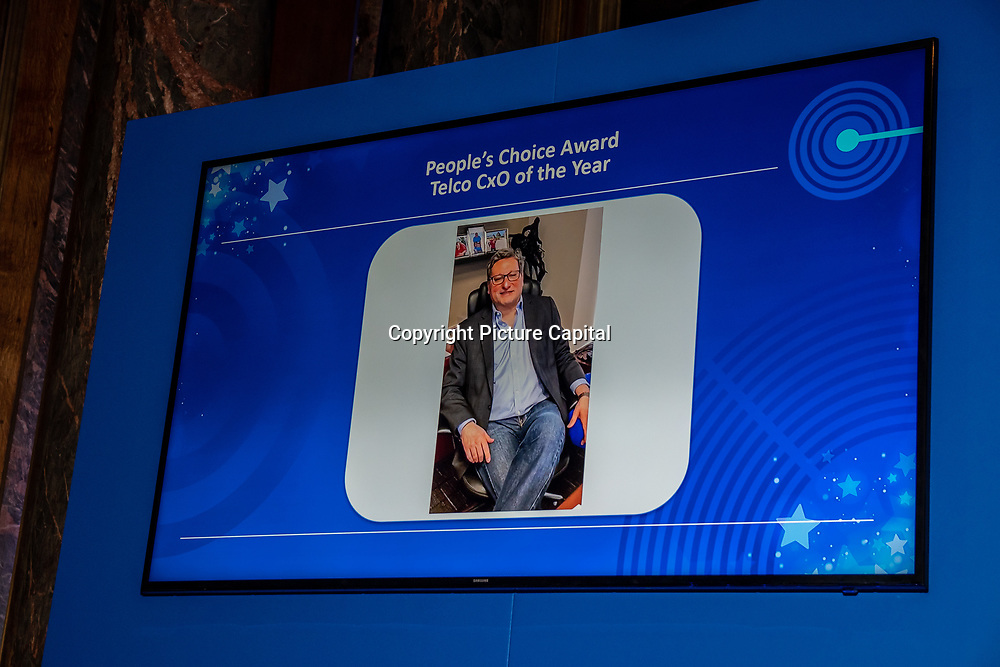 Ibrahim Gedeon winner of People's Choice Award of the 5G Awards ceremony at Drapers' Hall, on 12 June 2019, London, UK.
