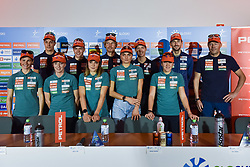 during press conference of Slovenian Nordic Ski Cross country team before new season 2019/20, on Novamber 12, 2019, in Petrol, Ljubljana, Slovenia. Photo Ziga Zivulovic Jr. / Foto Bobo