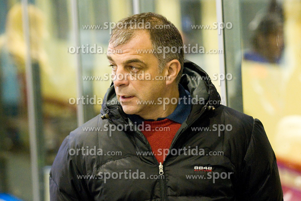 Head Coach of Slovenia Matjaz Kopitar during ice-hockey match between Slovenia and Norway in European Ice Hockey Challenge, on December 17, 2010 at Podmezaklja hall, Ljubljana, Slovenia. (Photo By Matic Klansek Velej / Sportida.com)