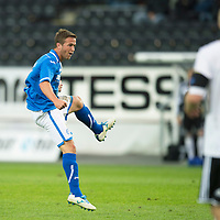 Rosenborg v St Johnstone....18.07.13  UEFA Europa League Qualifier.<br /> Chris Millar fires in a shot at goal<br /> Picture by Graeme Hart.<br /> Copyright Perthshire Picture Agency<br /> Tel: 01738 623350  Mobile: 07990 594431