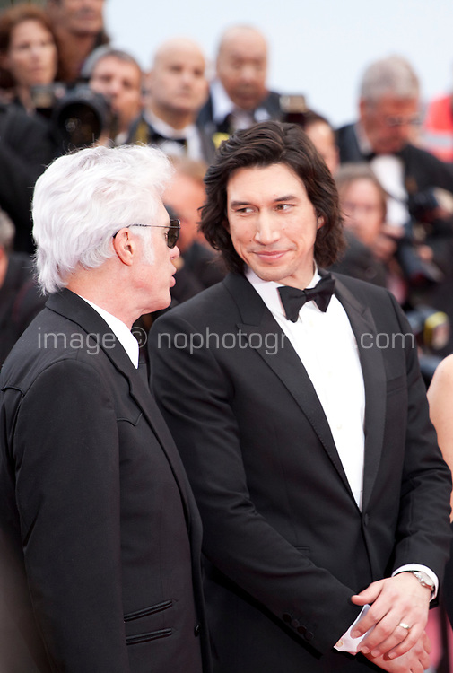 Director Jim Jarmusch and Adam Driver at the Opening Ceremony and The Dead Don't Die gala screening at the 72nd Cannes Film Festival Tuesday 14th May 2019, Cannes, France. Photo credit: Doreen Kennedy
