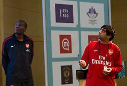 John Olaleye and Samir Singh of FC Arsenal during Day two of Sporto  2010 - Sports marketing and sponsorship conference, on November 30, 2010 in Hotel Slovenija, Portoroz/Portorose, Slovenia. (Photo By Vid Ponikvar / Sportida.com)