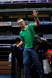 September 10, 2009; Bronx, NY; USA; Freddie Roach, trainer for Manny Pacquiao, enters the press conference at Yankee Stadium for the November 14, 2009 fight between Manny Pacquiao and Miguel Cotto.  The two will meet at the MGM Grand Garden Arena in Las Vegas, NV.