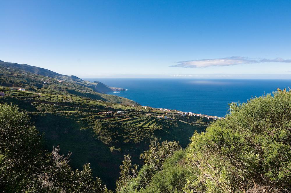 The northern coast of La Palma, Canary Island, Spain