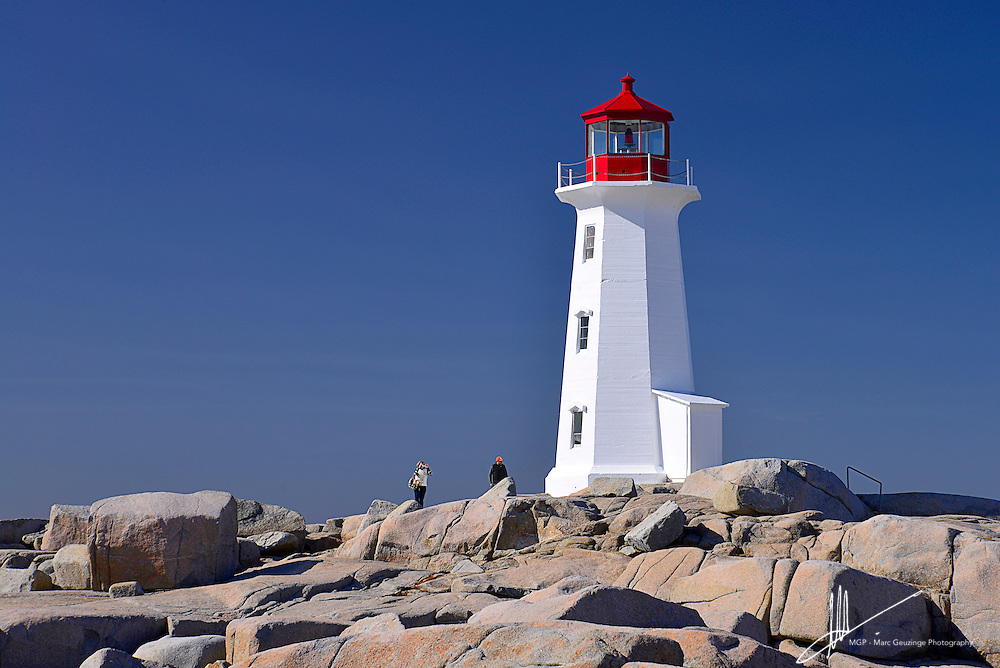 The Lighthouse at Peggy's Cove, Nova Scotia, Canada is located on the eastern shore of St. Margaret's Bay, and is one of the most photographed liughthouses in the world. Marech 2013. By Marc Geuzinge Photography
