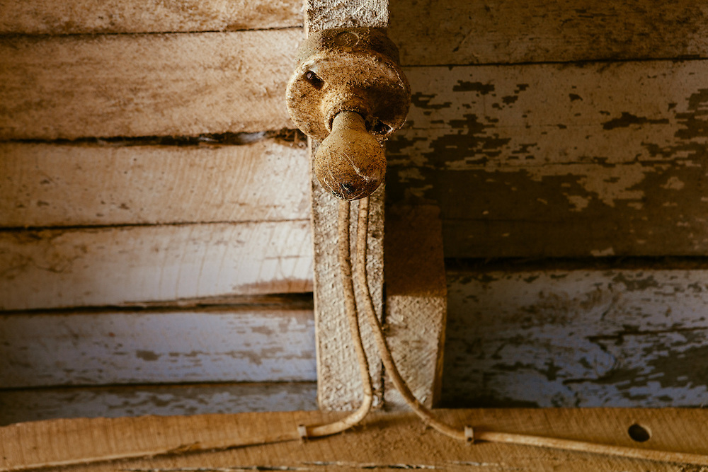 Light bulb in a barn. <br />