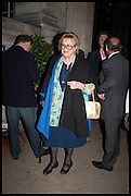 LADY ANTONIA FRASER, Launch of Rachel Kelly's memoir 'Black Rainbow' about recovering from depression with the help of poetry published by Hodder & Stoughton , ( Author proceeds will be given to the charities SANE and United Response ). Cafe of the National Gallery.  London. 7 May 2014