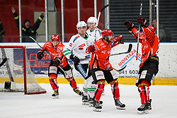 Players of Jesenice celebrates during ice hockey match between HDD SIJ Acroni Jesenice and HDD Olimpija Ljubljana in Final of Slovenian League 2016/17, on April 9, 2017 in Podmezaklja, Jesenice, Slovenia. Photo by Matic Klansek Velej / Sportida