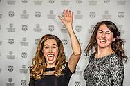 ROTTERDAM - filmfestival opening rode loper en opening van de film lemon  Fidan Ekiz met haar zus samen  ROBIN UTRECHT